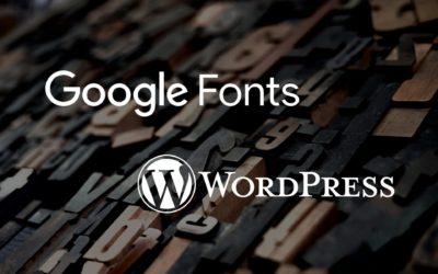 Adding Google Fonts to WP