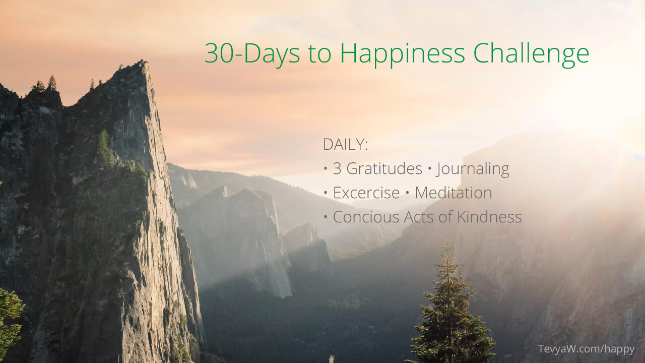 30 days to happiness challenge