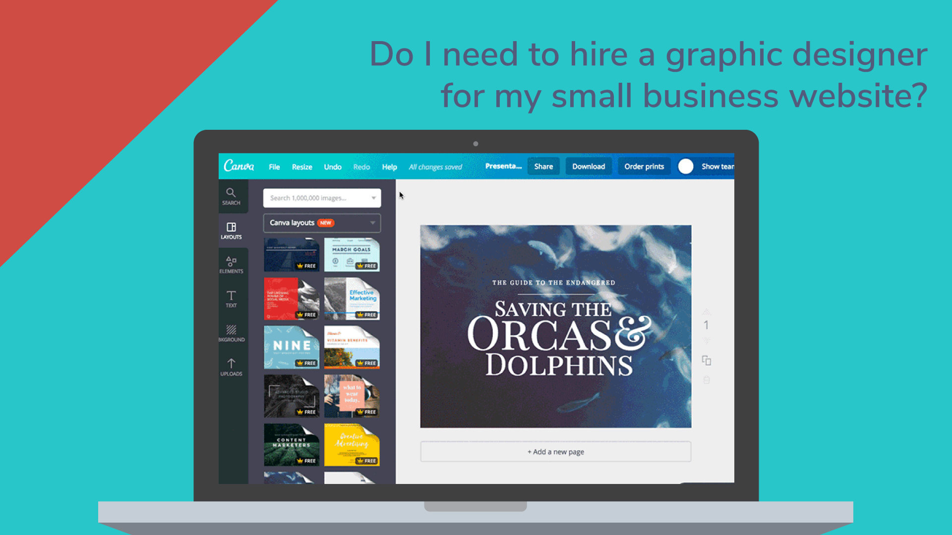 Do i need to hire a graphic designer for my small business website