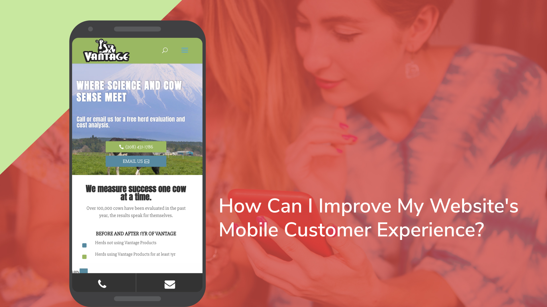 How can i improve my websites mobile customer experience