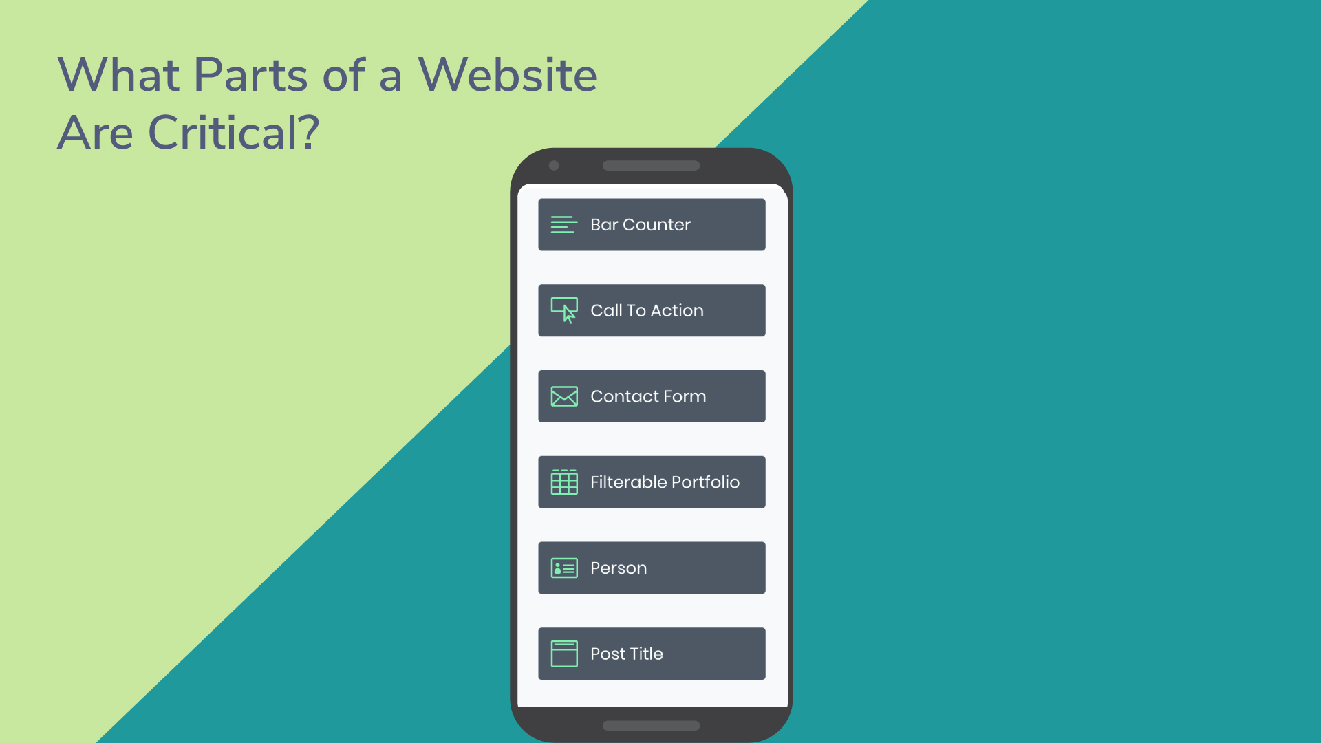 What parts of a website are critical