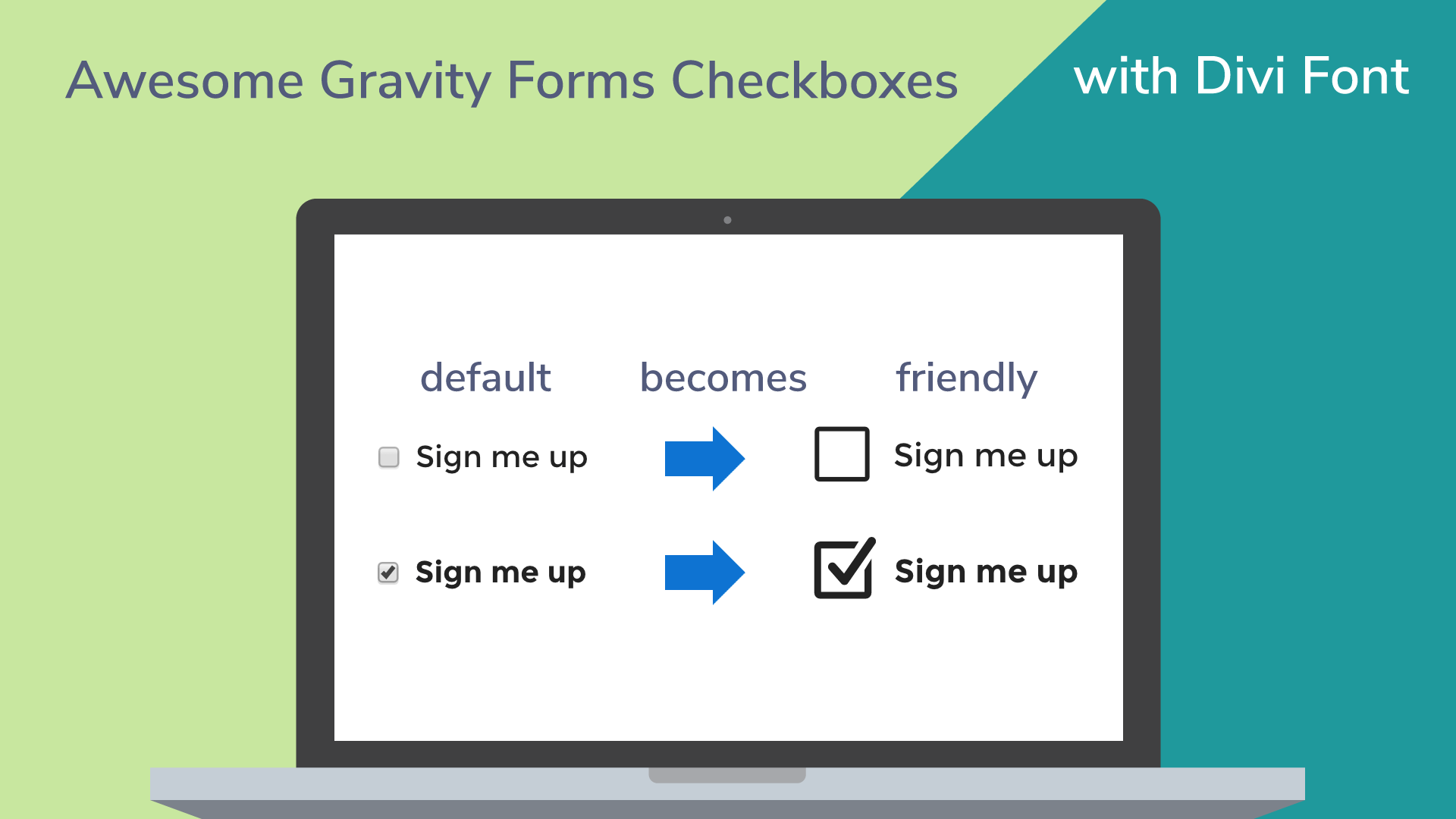 Gravity forms checkboxes styled divi font