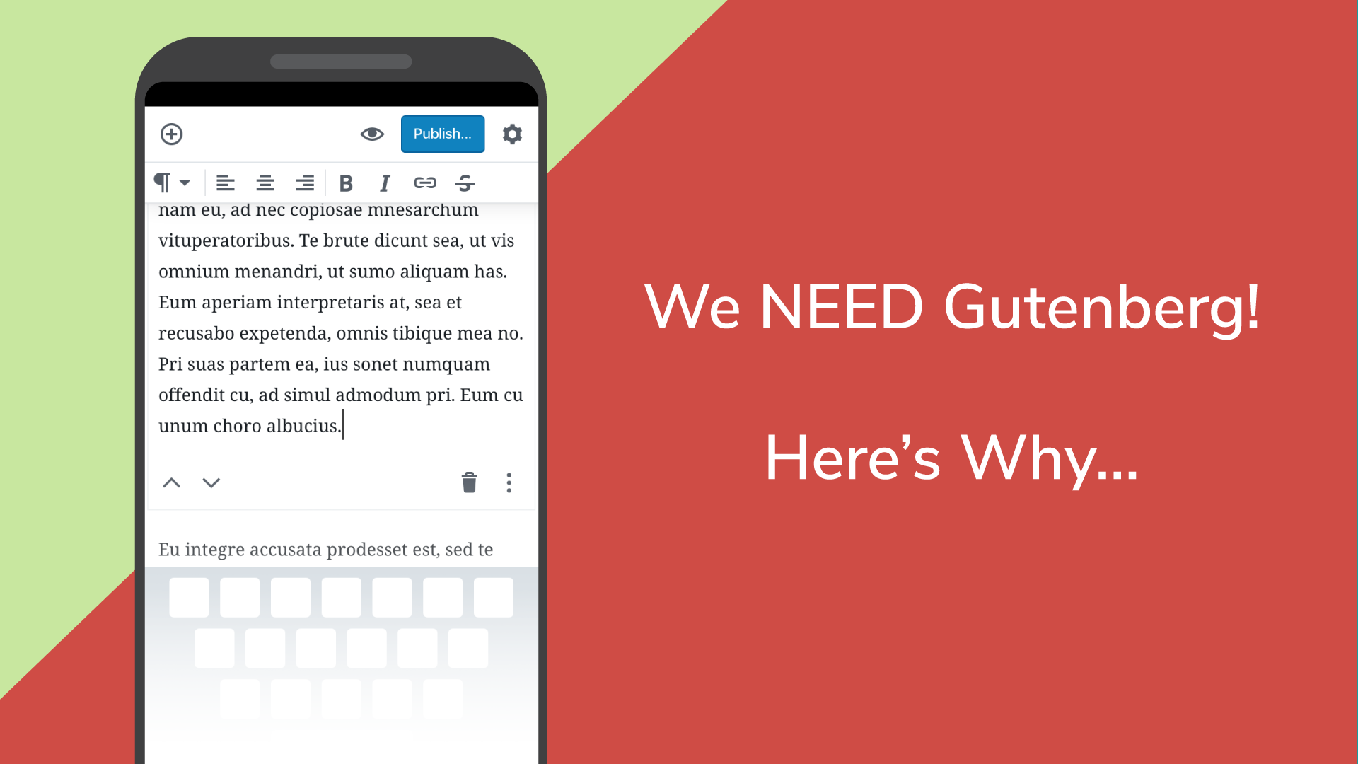 Reason wordpress needs gutenberg