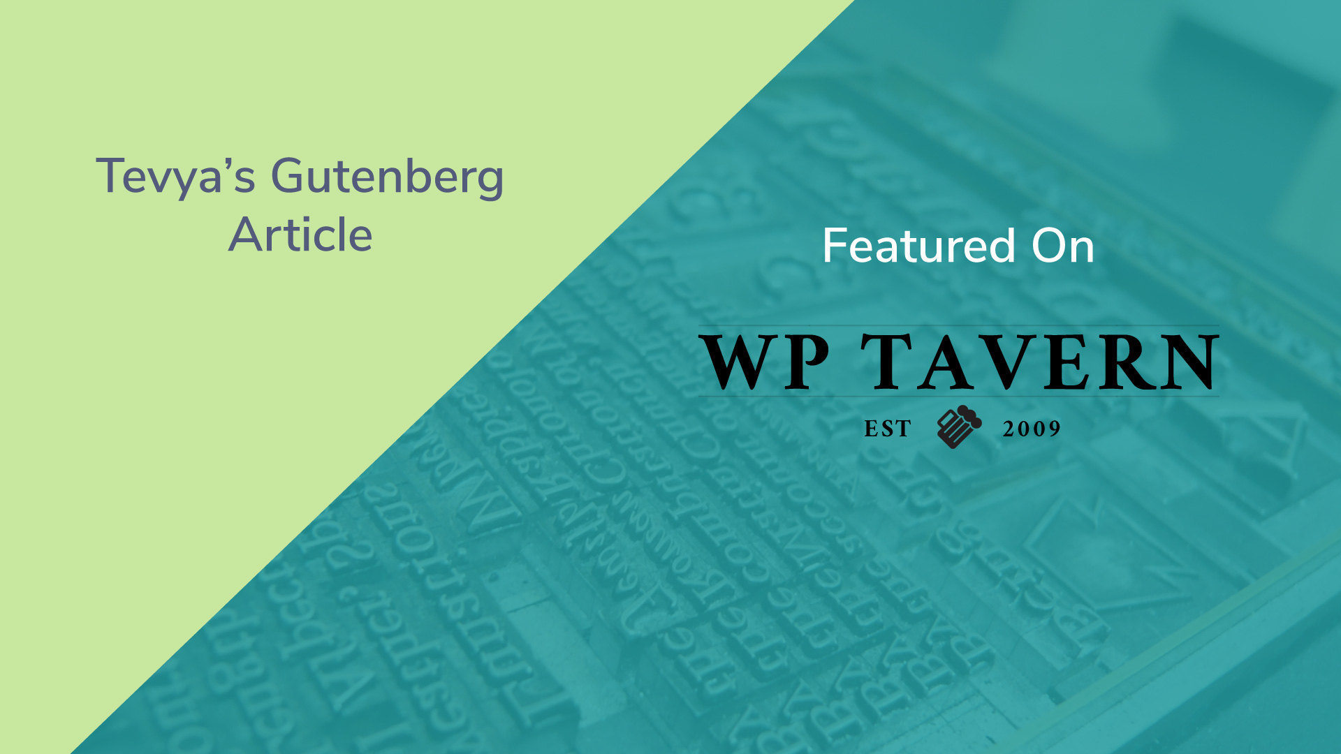 Gutenberg article featured wp tavern
