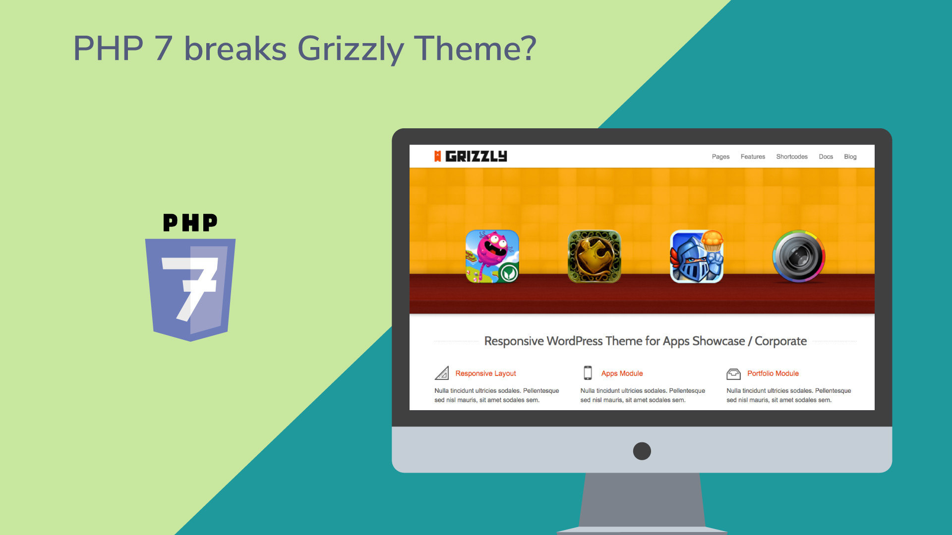 Grizzly wordpress theme php 7 compatible