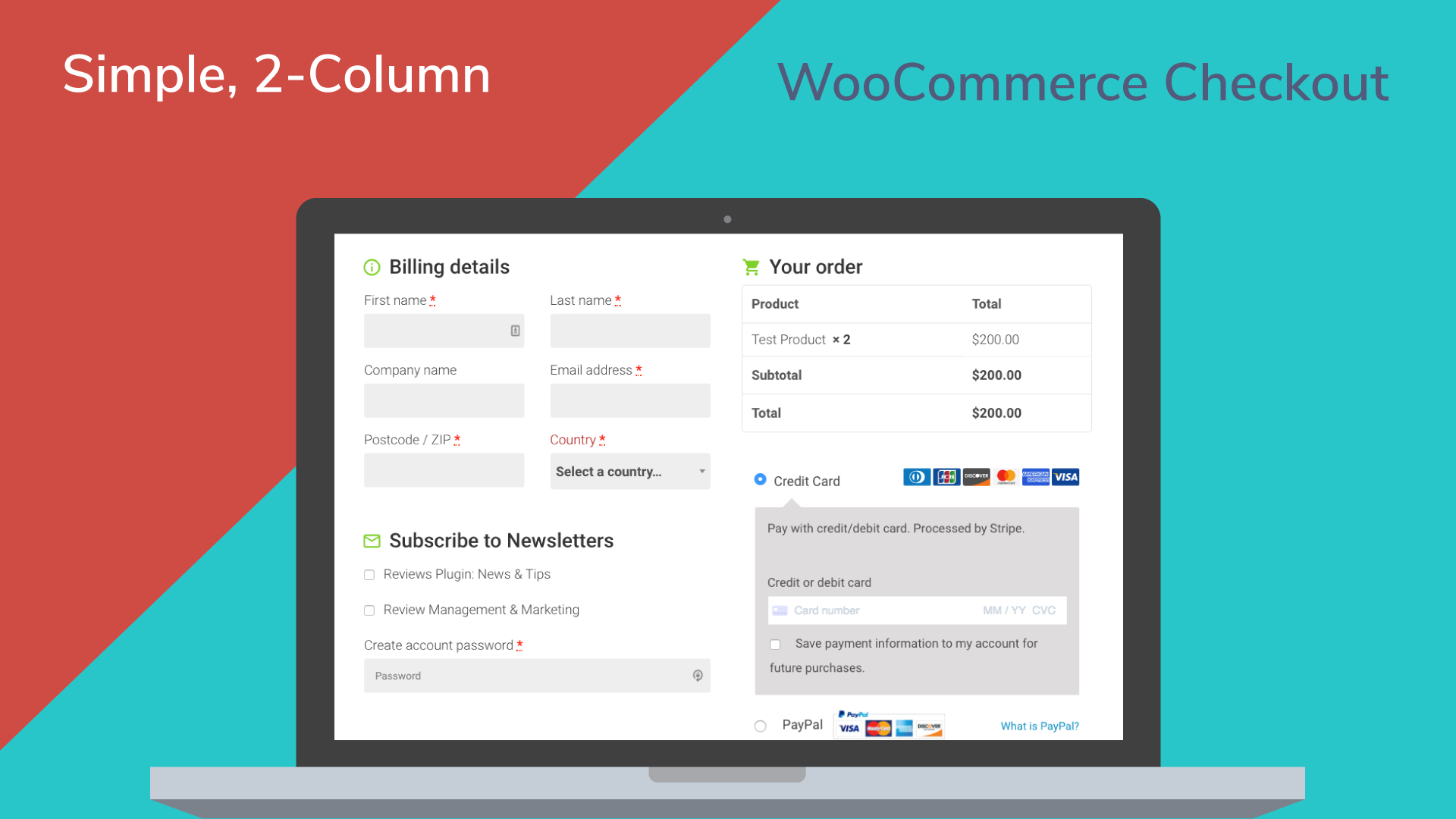 Woocommerce simple checkout