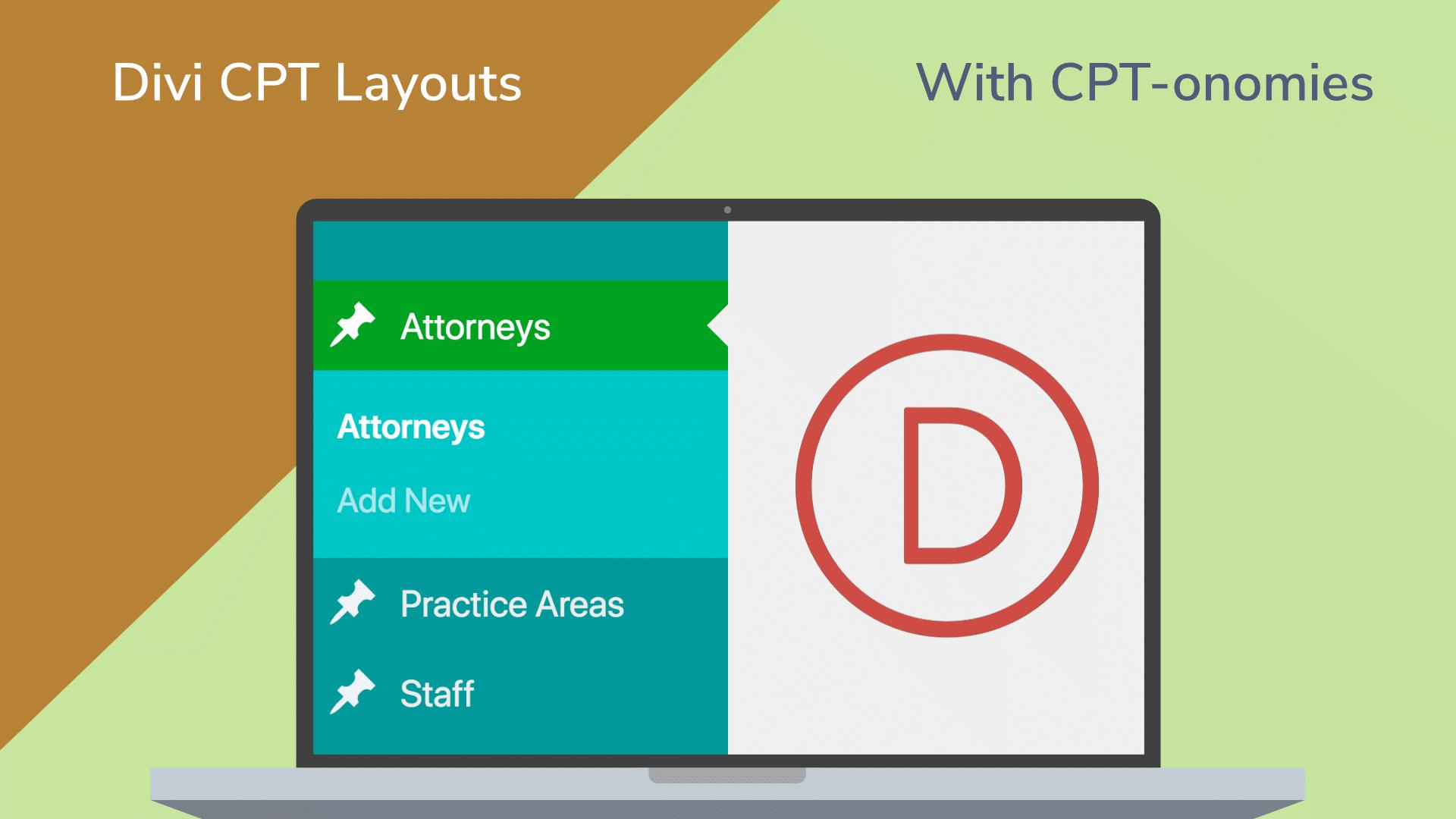 Divi custom post types layouts cpt onomies custom fields
