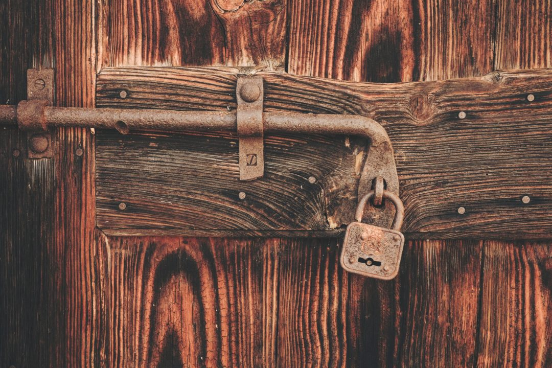 Padlock door bolt wordpress security