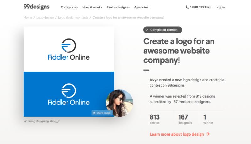 99designs contest logo fiddler online
