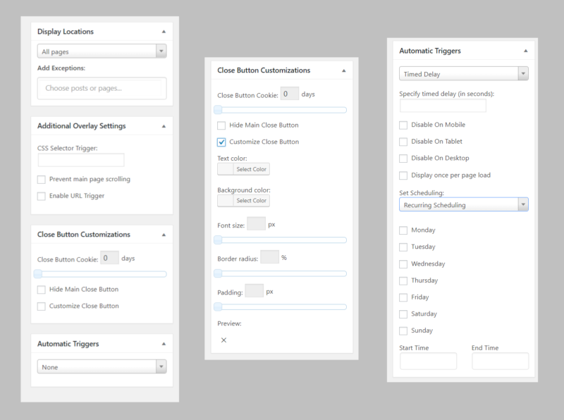 Usability comparison divi overlays 2