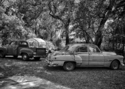 Antique cars b w russian river valley 2014
