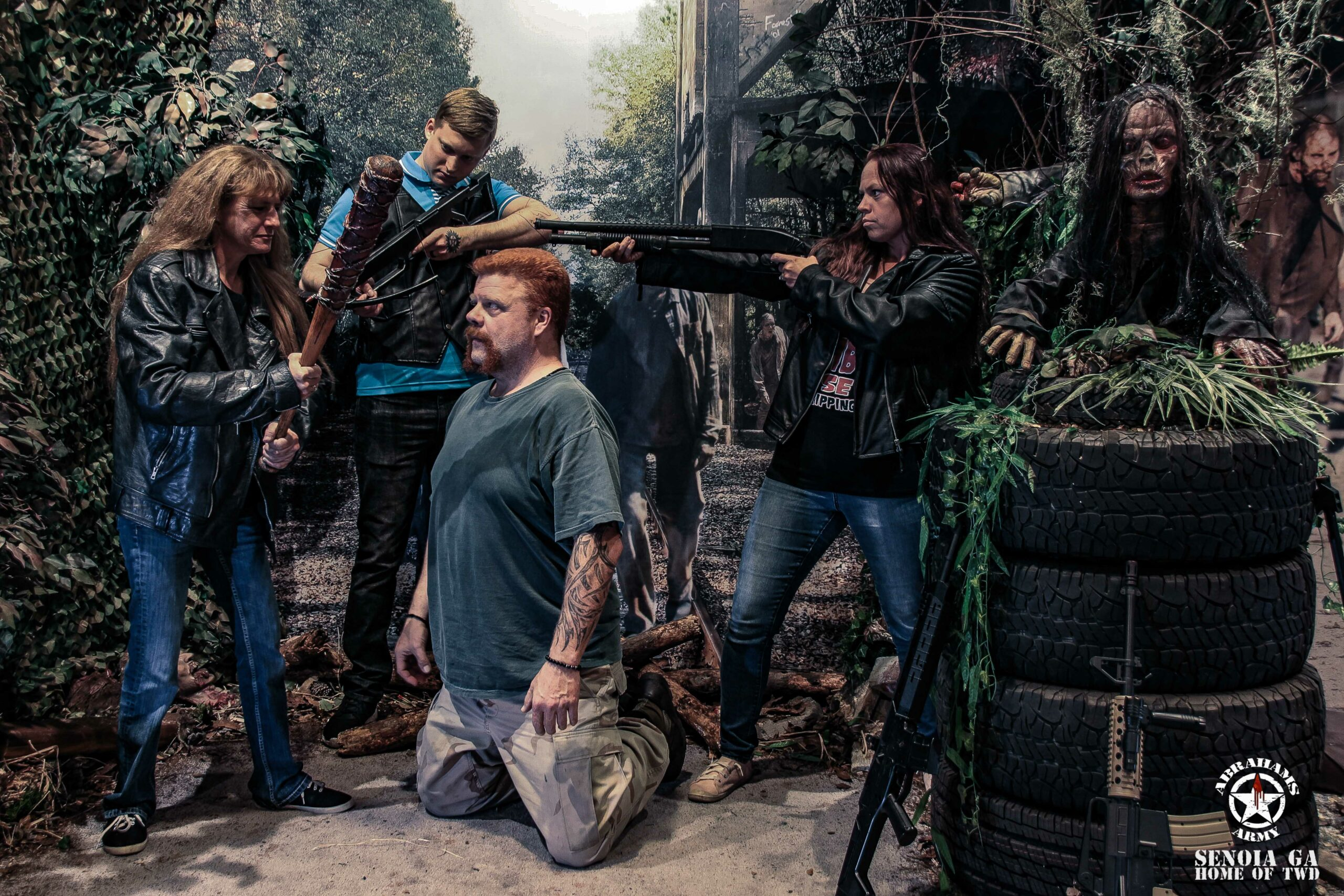 Becky, travis, and angie killing abraham twd