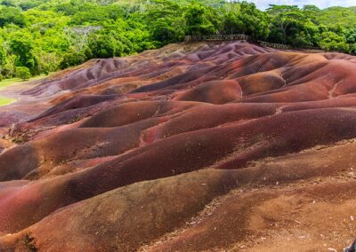 Colorful rocks in mauritius